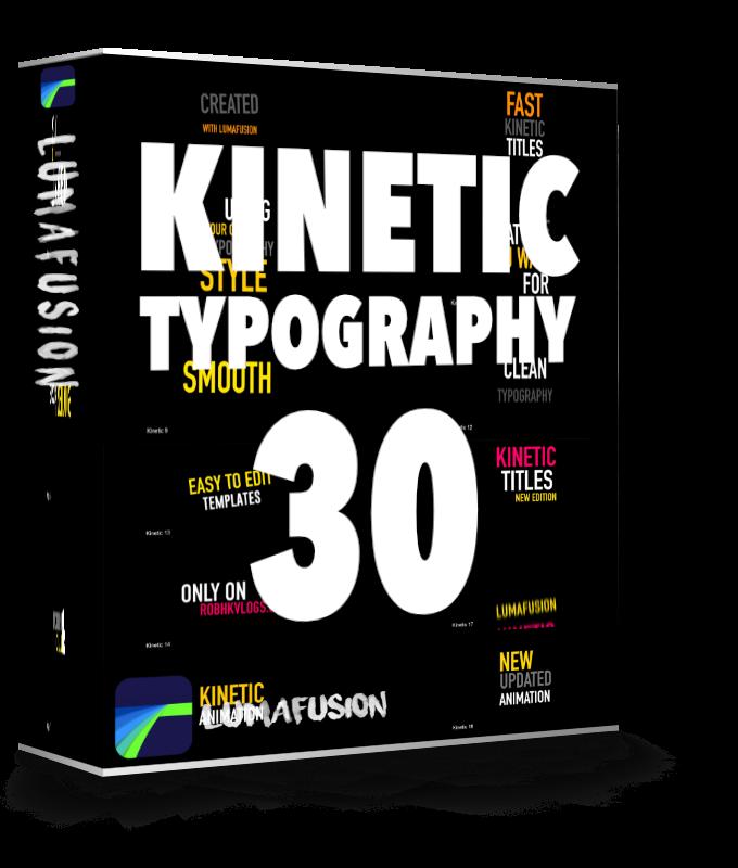 Kinetic Typography for Lumafusion 2.3